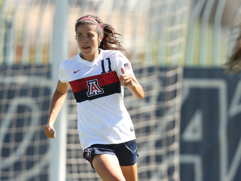 UA soccer player Morgan McGarry